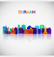 durham skyline silhouette in colorful geometric vector image vector image