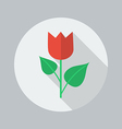 Eco Flat Icon Flower vector image vector image