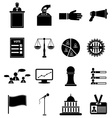 election icons set vector image vector image