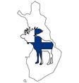 Finnish moose vector image vector image