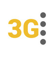 flat 3g logo with signal strength dots vector image vector image