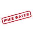 Free Water Text Rubber Stamp vector image vector image