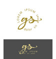 g s initials monogram logo design dry brush vector image