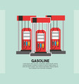 gasoline station pump refill oil industry vector image vector image