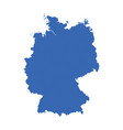germany map on white background flat vector image vector image