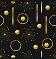 gold and black seamless abstract background vector image