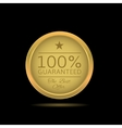 Golden Guaranteed label vector image vector image