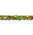 happy christmas border vector image vector image