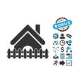 Home Fence Flat Icon with Bonus vector image vector image
