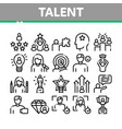 human talent collection elements icons set vector image