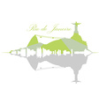 Isolated Rio de Janeiro Skyline vector image vector image