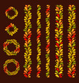 isolated seamless autumn colored vertical vector image vector image