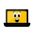 isolated surprised laptop emote vector image vector image