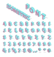 Isometric alphabet font vector image vector image