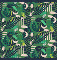 jungle pattern green abstract textured vector image vector image