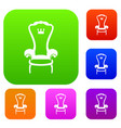king throne chair set collection vector image vector image