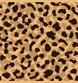 leopard skin seamless pattern abstract animal fur vector image vector image