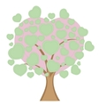 Love tree with heart leaves vector image vector image
