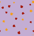 maple and chestnut leaves pattern seamless color vector image vector image
