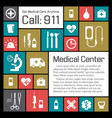 medical and health center background vector image vector image