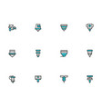metalworking lasers simple line icons set vector image vector image