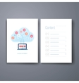 Modern cloud computing flat icon cards design vector image vector image