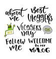 modern lettering set inspirational hand vector image