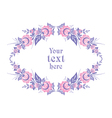oval floral frame vector image vector image