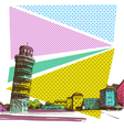Pisa cityscape drawing vector image