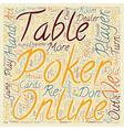 Poker Online Etiquette text background wordcloud vector image vector image