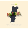 portugal map in flat design Portuguese vector image vector image