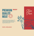 premium quality beef abstract meat vector image vector image