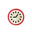 retro style cartoon wall clock vector image vector image