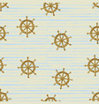 seamless pattern gold wheels vector image