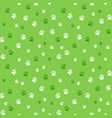 seamless pattern with dog footprints vector image vector image