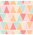 Seamless triangle pastel texture pattern vector image