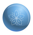 season flower icon simple style vector image vector image