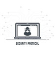 security protocol vector image vector image