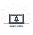 security protocol vector image