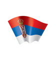 serbia flag on a white vector image vector image