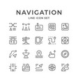 set line icons of navigation vector image vector image