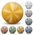 Set of golden silver and bronze coins vector image vector image