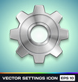 Settings Gear Icon vector image