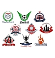 Sport games emblems and icons set vector image vector image