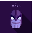 The villain in a purple mask flat head style vector image vector image