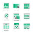 uxui design icons set vector image