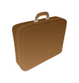 vintage leather suitcase with handle isolated in vector image