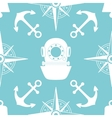 Vintage nautical seamless pattern vector image vector image