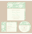 wedding invitation set green vector image vector image