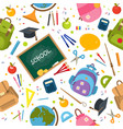welcome back to school pattern vector image vector image